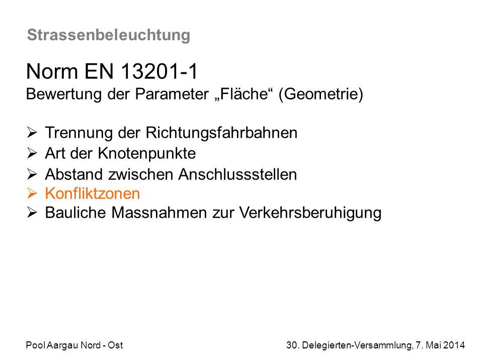 Norm EN 13201-1 Strassenbeleuchtung