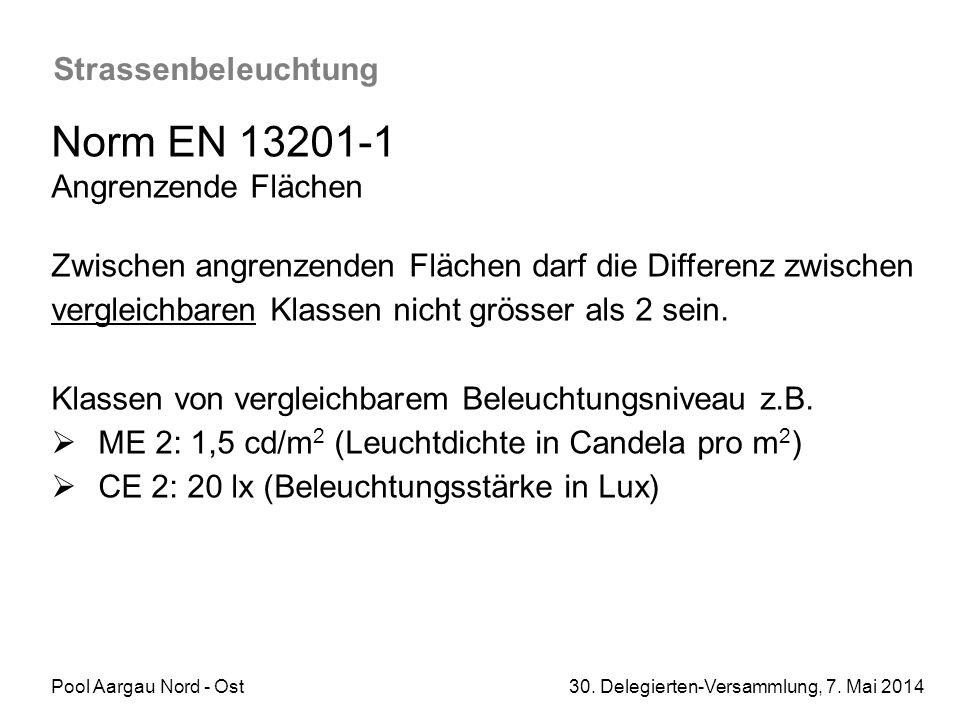 Norm EN 13201-1 Strassenbeleuchtung Angrenzende Flächen