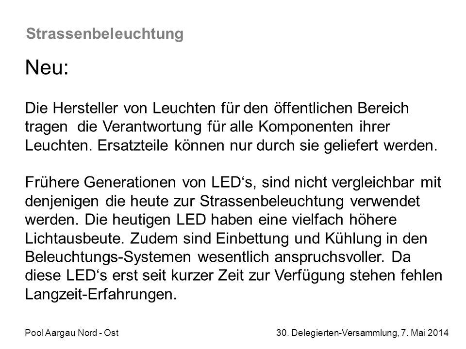 Neu: Strassenbeleuchtung