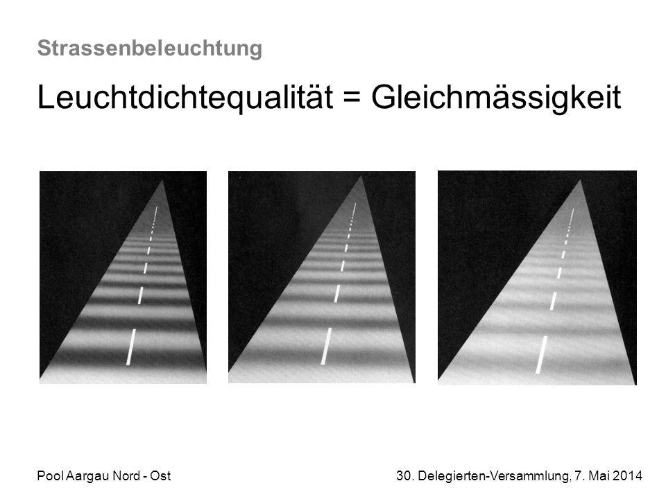 Leuchtdichtequalität = Gleichmässigkeit