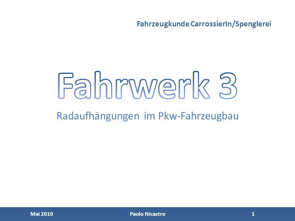 Fahrzeugkunde CarrossierIn/Spenglerei