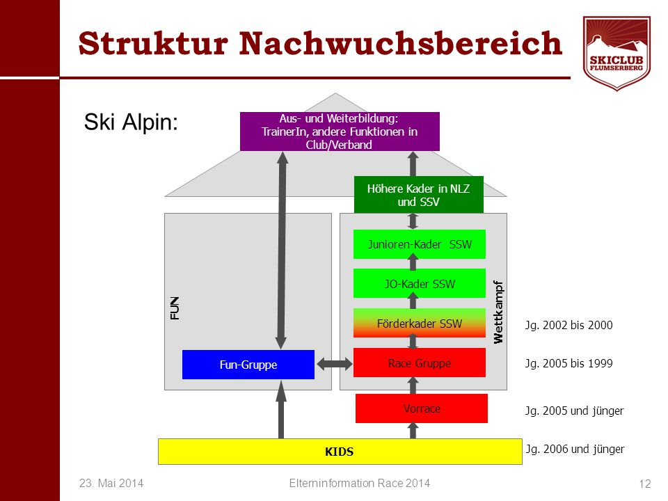 Struktur Nachwuchsbereich
