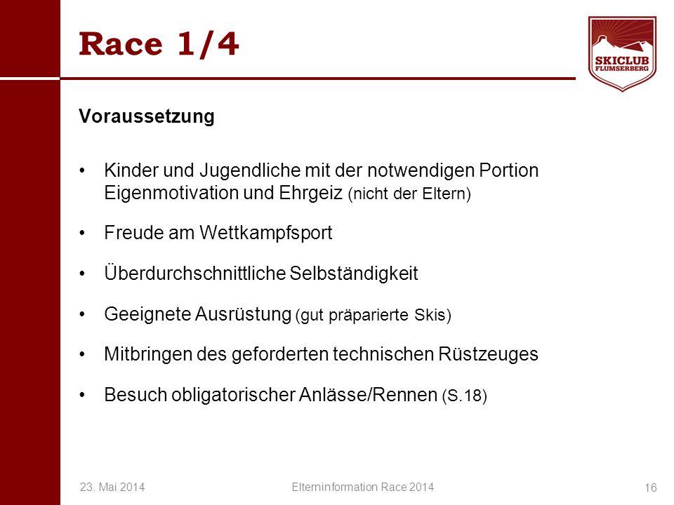 Elterninformation Race 2014