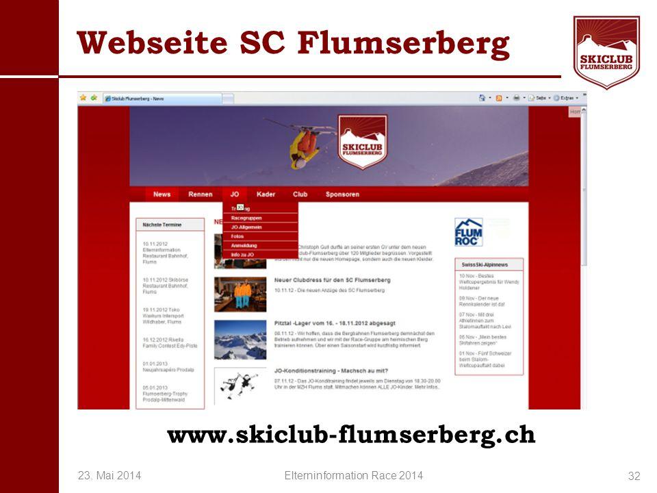 Webseite SC Flumserberg