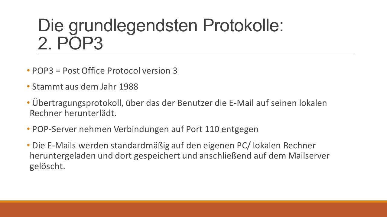 Die grundlegendsten Protokolle: 2. POP3