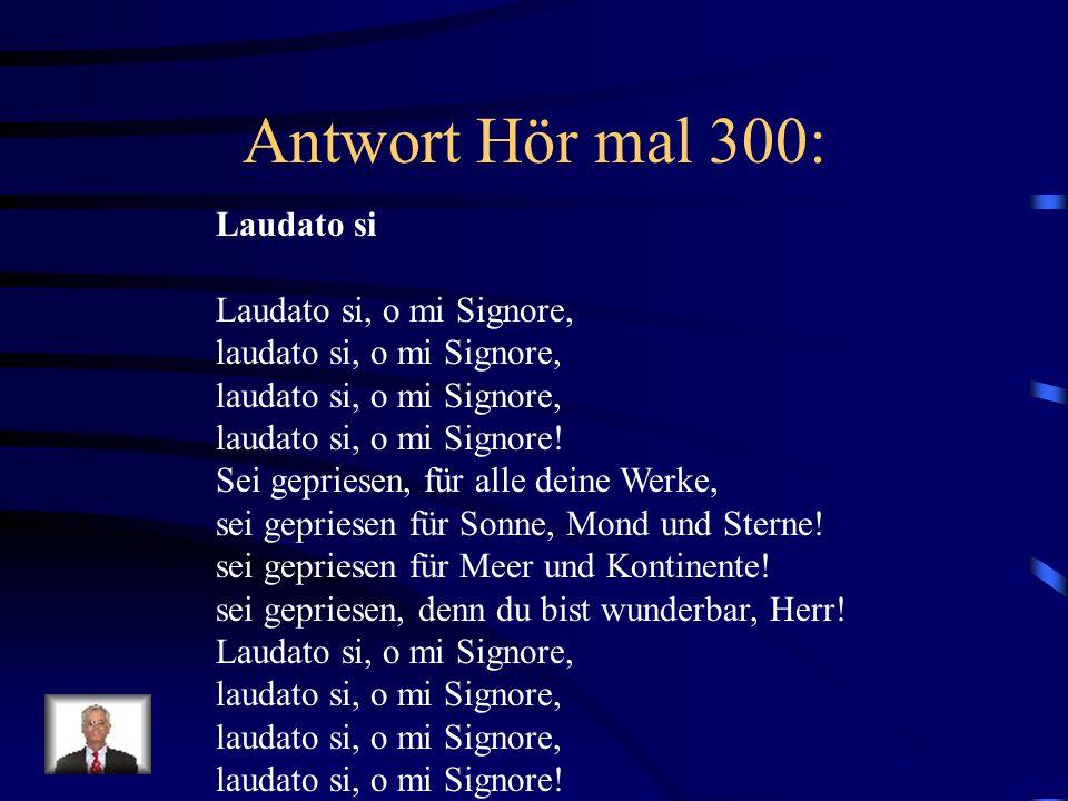 Antwort Hör mal 300: Laudato si