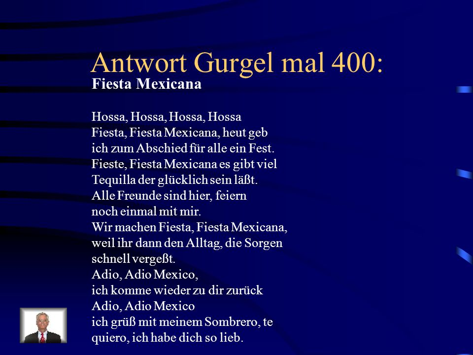 Antwort Gurgel mal 400: Fiesta Mexicana