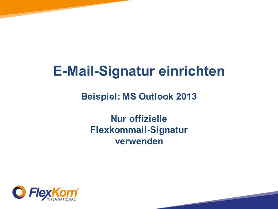 E-Mail-Signatur einrichten Flexkommail-Signatur