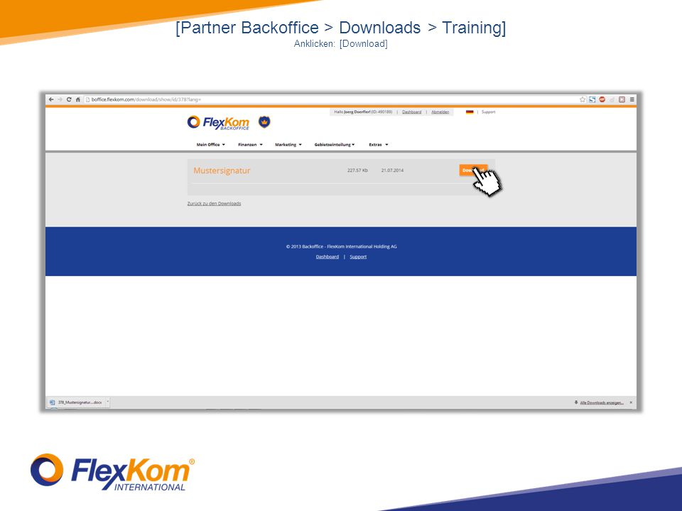 [Partner Backoffice > Downloads > Training]