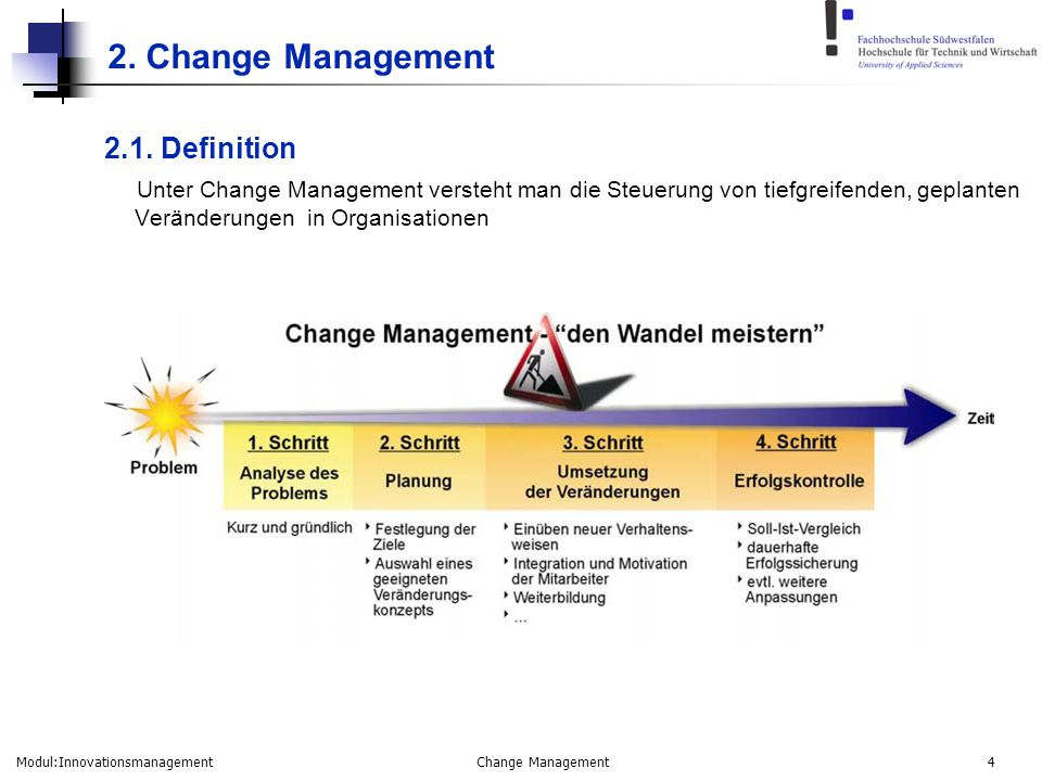 2. Change Management 2.1. Definition