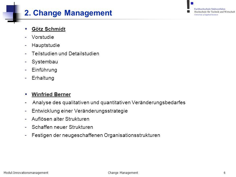 2. Change Management Götz Schmidt Vorstudie Hauptstudie