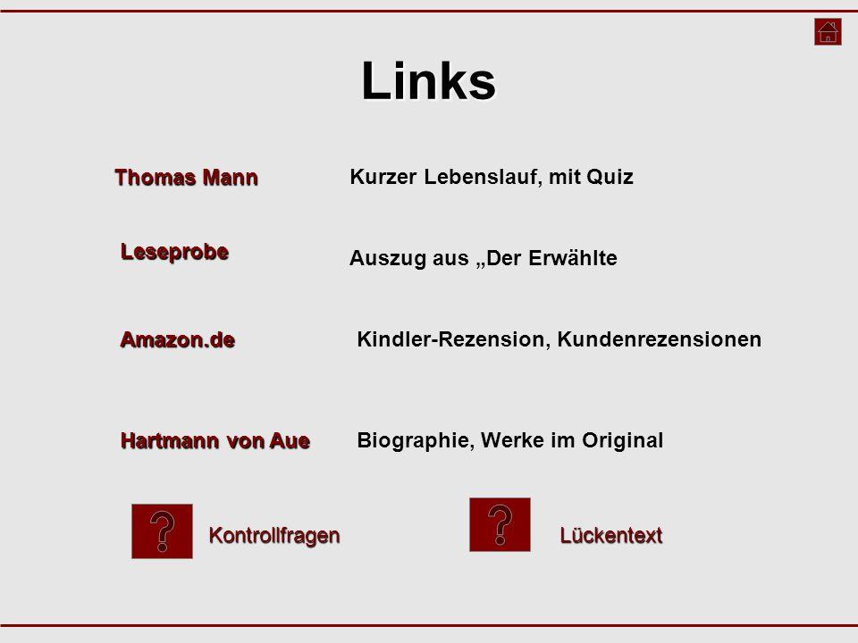 Links Thomas Mann Kurzer Lebenslauf, mit Quiz Leseprobe