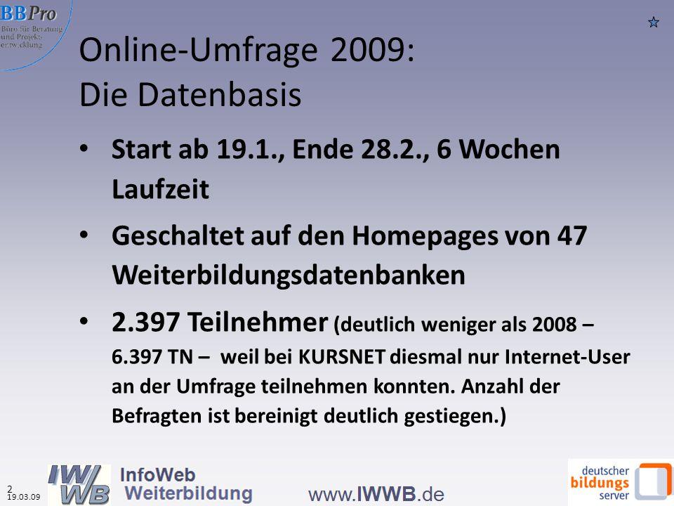 Online-Umfrage 2009: Die Datenbasis