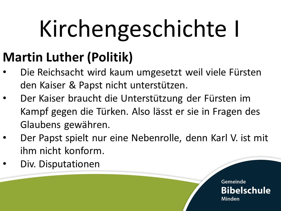 Kirchengeschichte I Martin Luther (Politik)