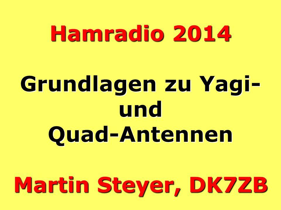 Hamradio 2014 Grundlagen zu Yagi- und