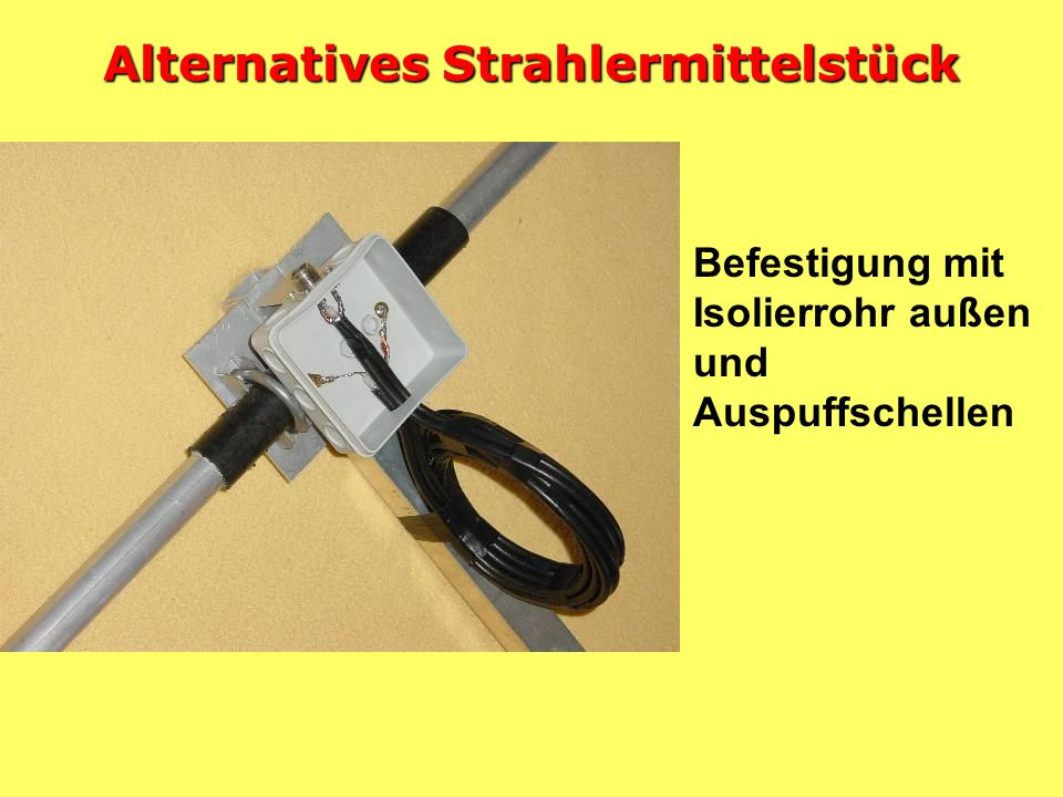 Alternatives Strahlermittelstück