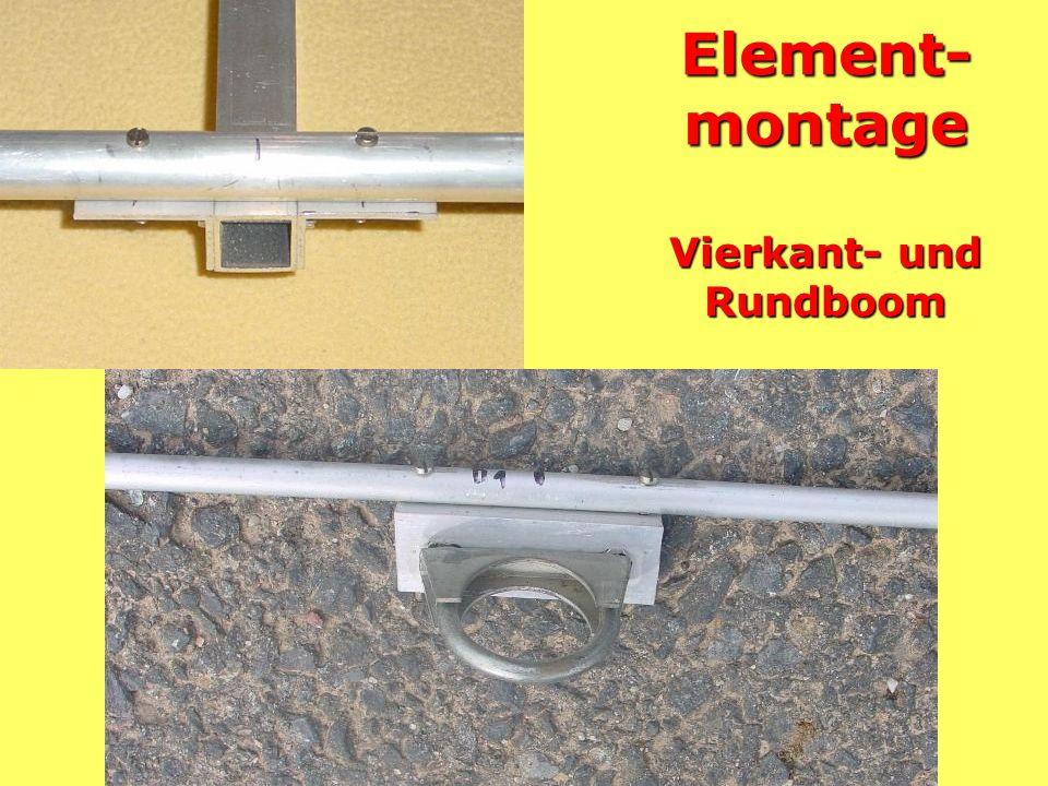 Element-montage Vierkant- und Rundboom