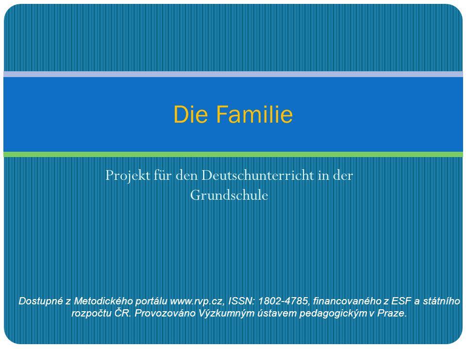 Projekt für den Deutschunterricht in der Grundschule