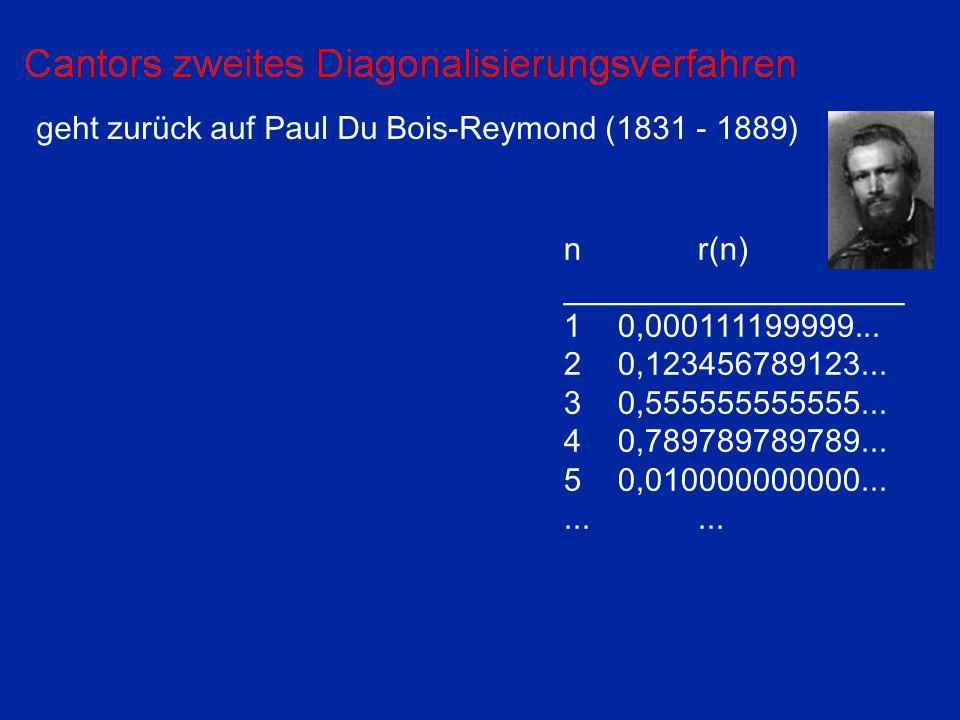 geht zurück auf Paul Du Bois-Reymond (1831 - 1889)