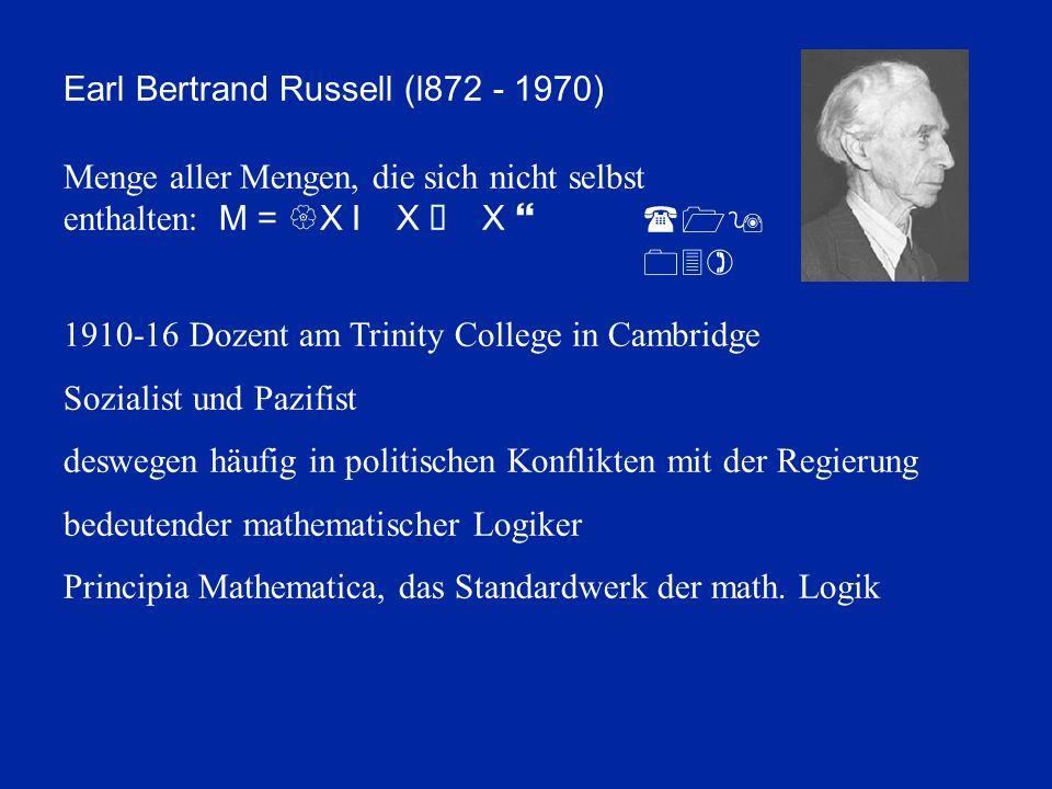 Earl Bertrand Russell (l872 - 1970)