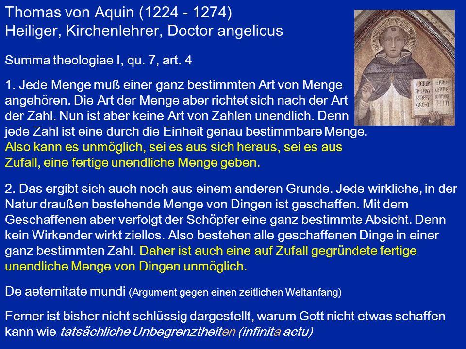 Heiliger, Kirchenlehrer, Doctor angelicus