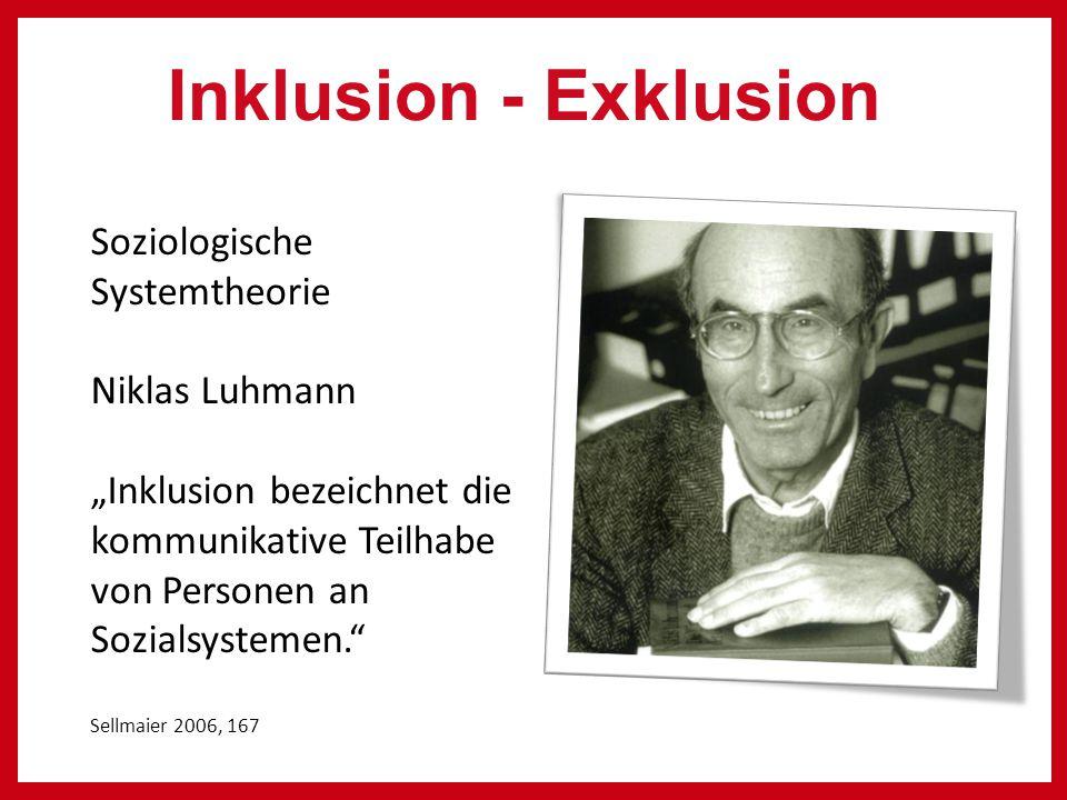 Inklusion - Exklusion Soziologische Systemtheorie Niklas Luhmann