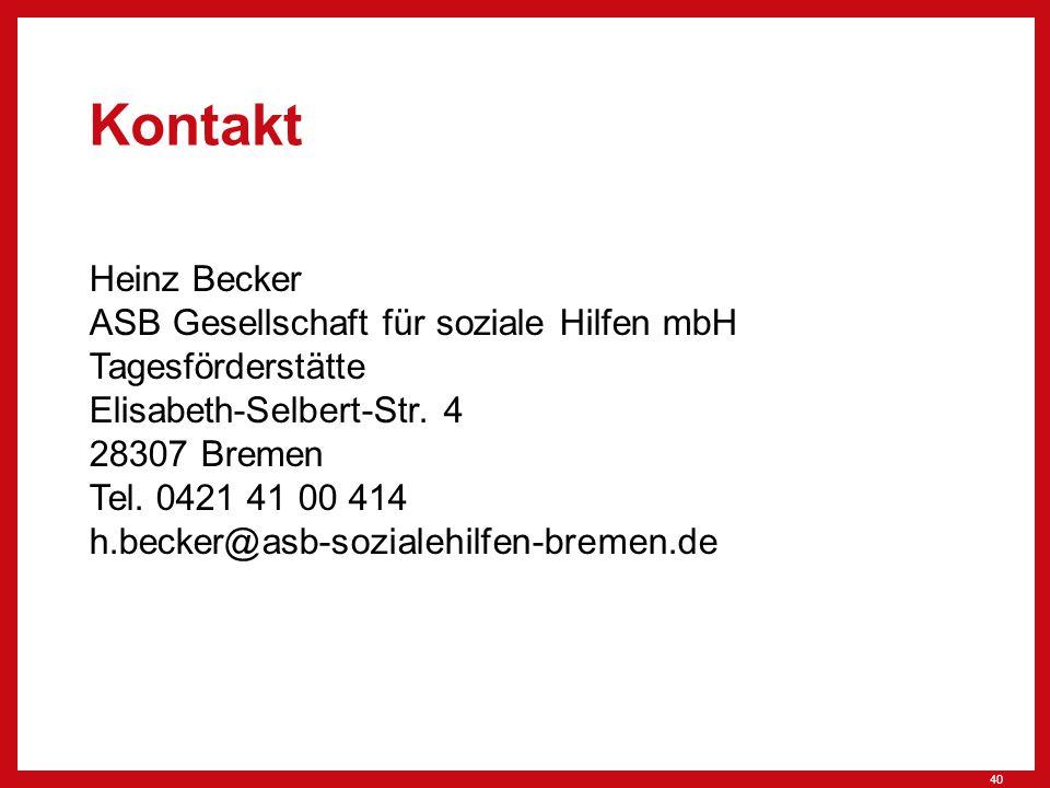 Kontakt Heinz Becker ASB Gesellschaft für soziale Hilfen mbH