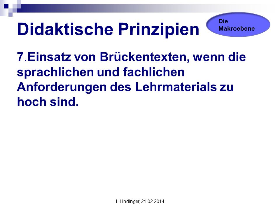 Didaktische Prinzipien