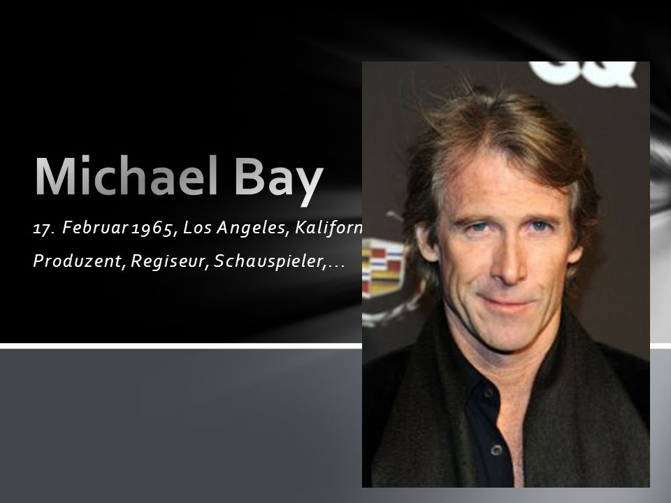 Michael Bay 17. Februar 1965, Los Angeles, Kalifornien, USA