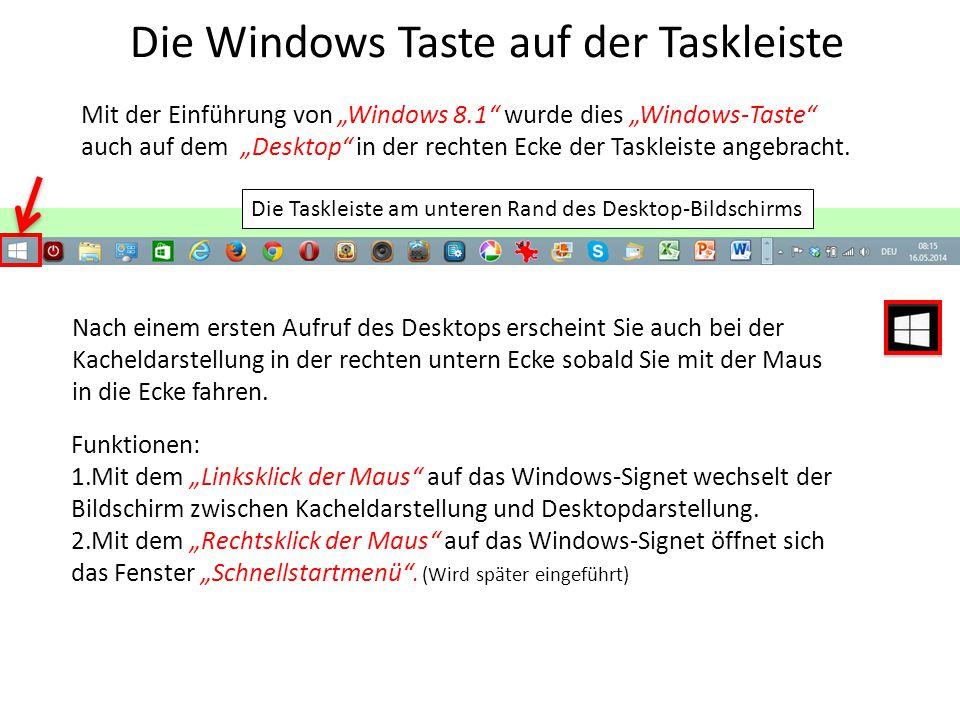 Die Windows Taste auf der Taskleiste
