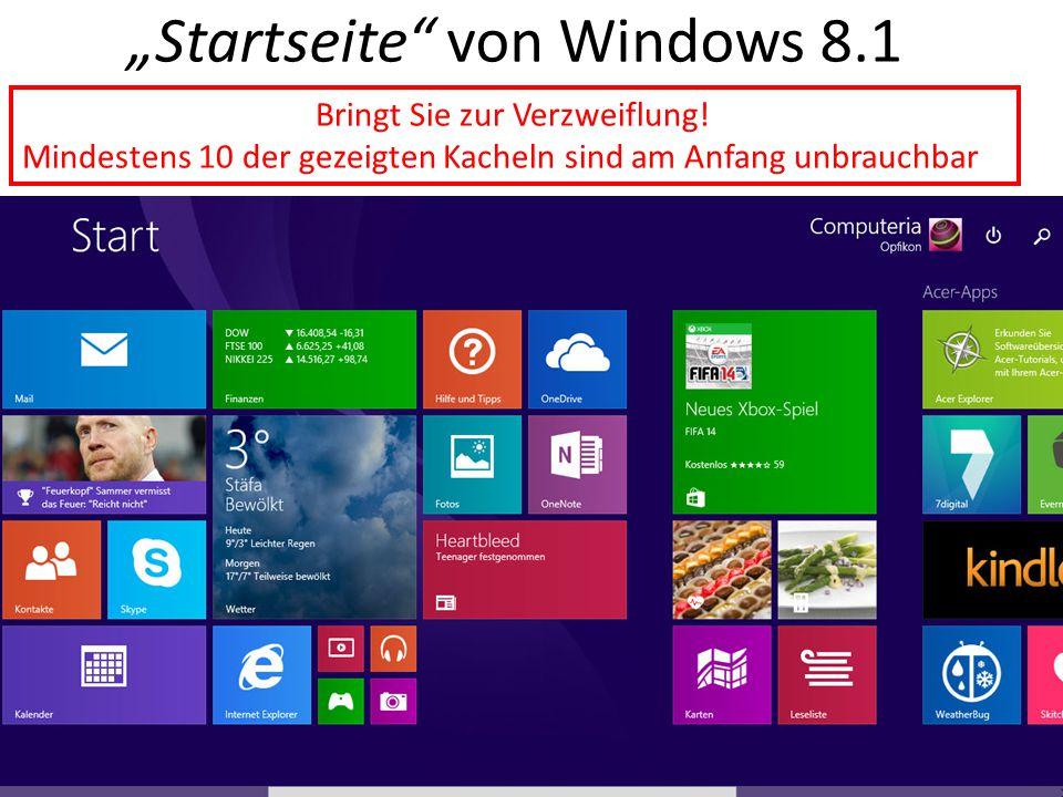"""""""Startseite von Windows 8.1"""