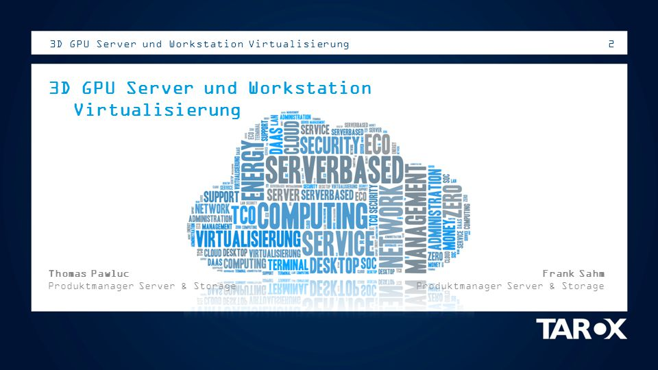 3D GPU Server und Workstation Virtualisierung
