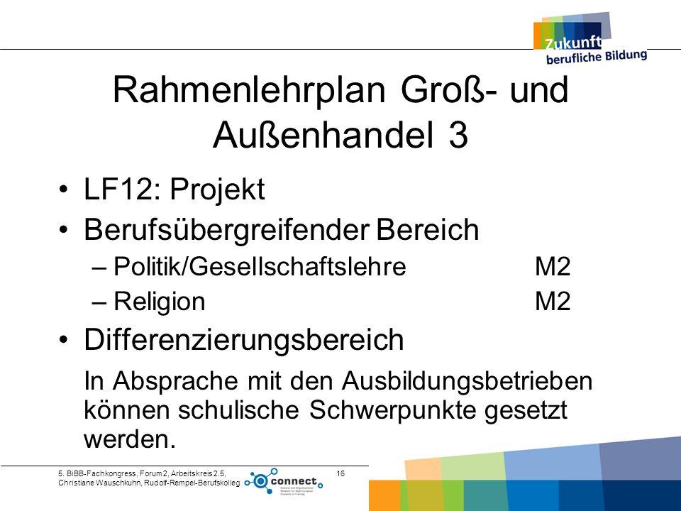Rahmenlehrplan Groß- und Außenhandel 3