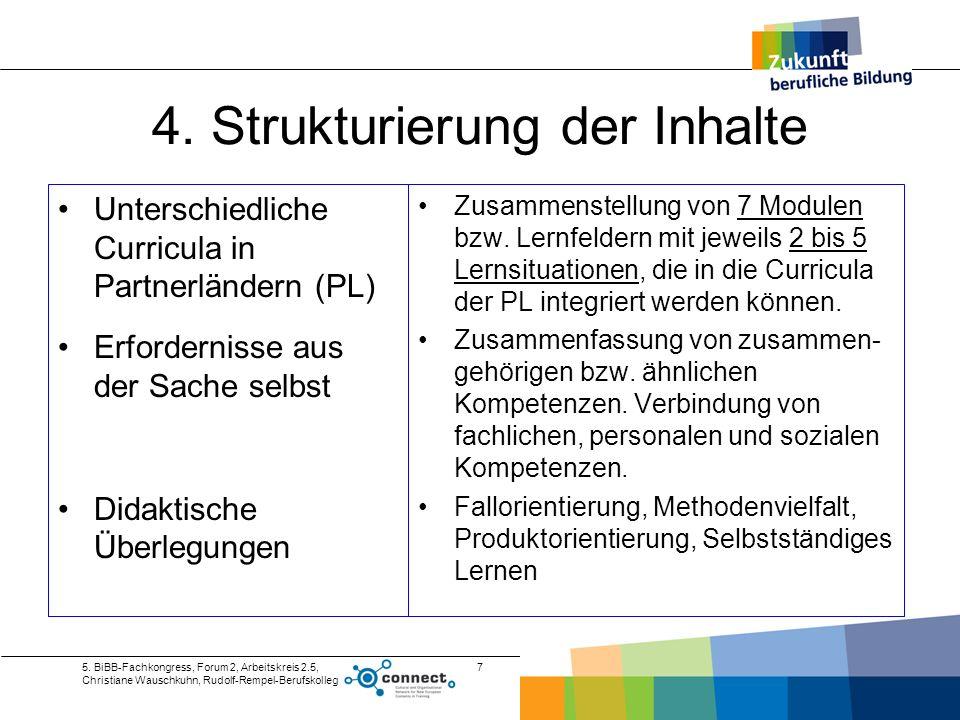 4. Strukturierung der Inhalte