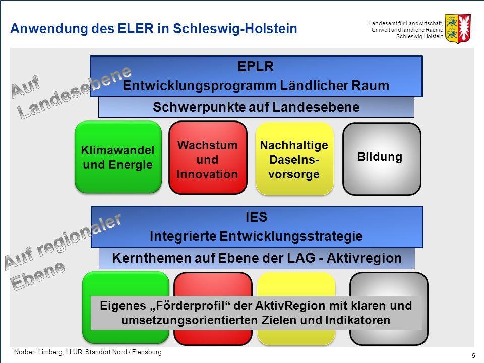 Anwendung des ELER in Schleswig-Holstein