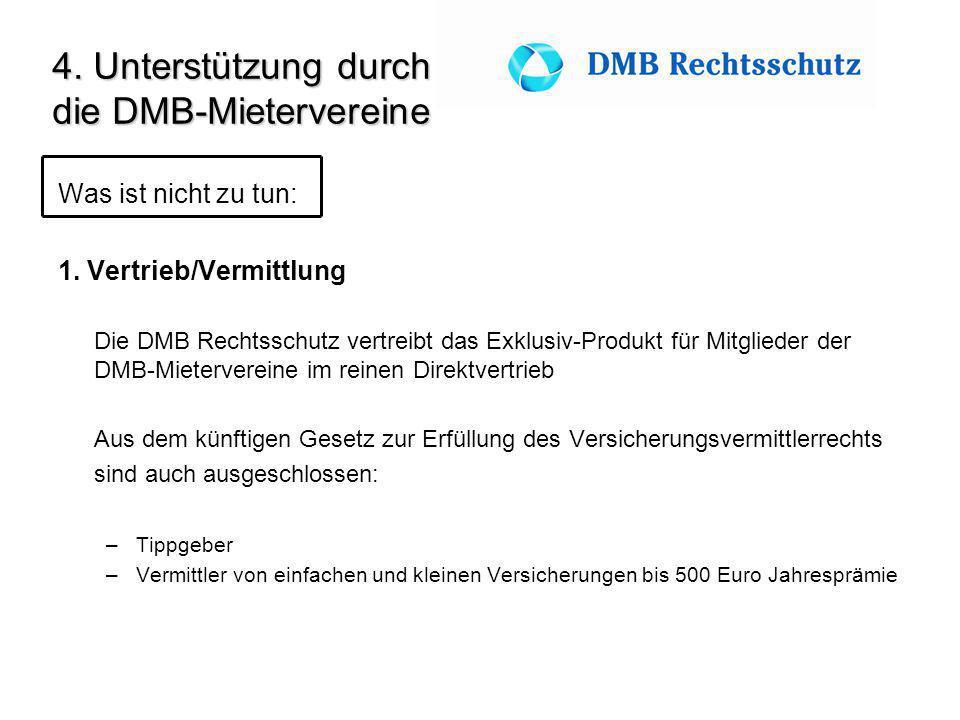 4. Unterstützung durch die DMB-Mietervereine