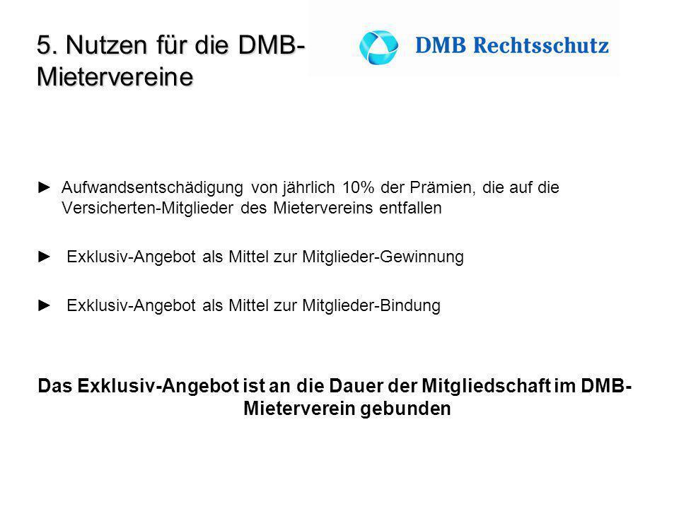 5. Nutzen für die DMB-Mietervereine