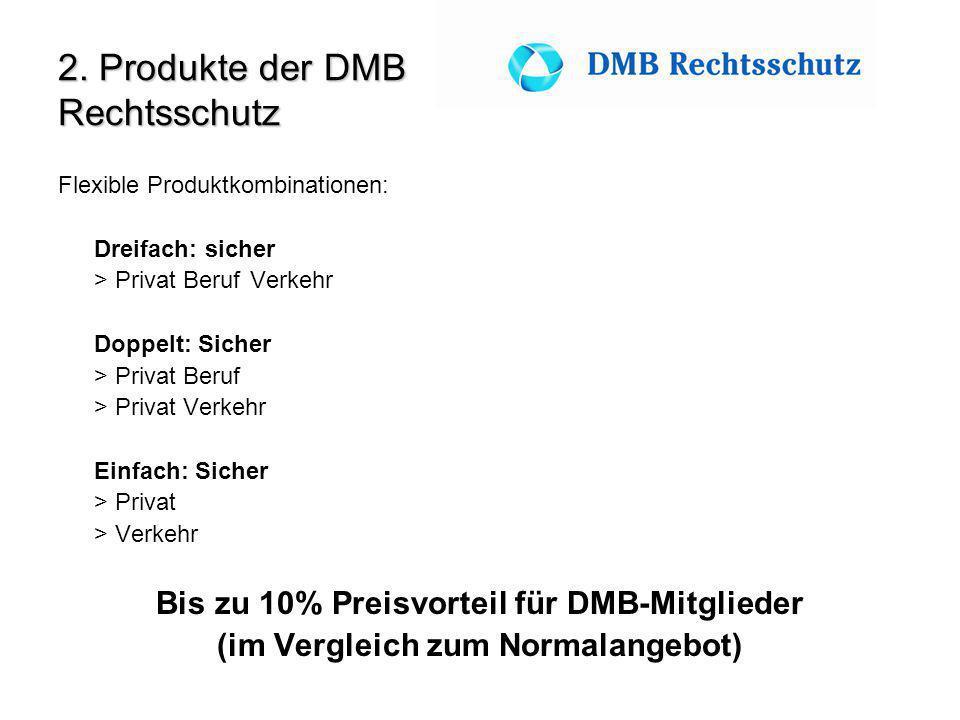 2. Produkte der DMB Rechtsschutz