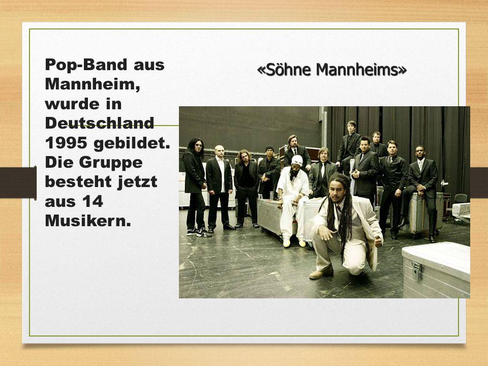 Pop-Band aus Mannheim, wurde in Deutschland 1995 gebildet