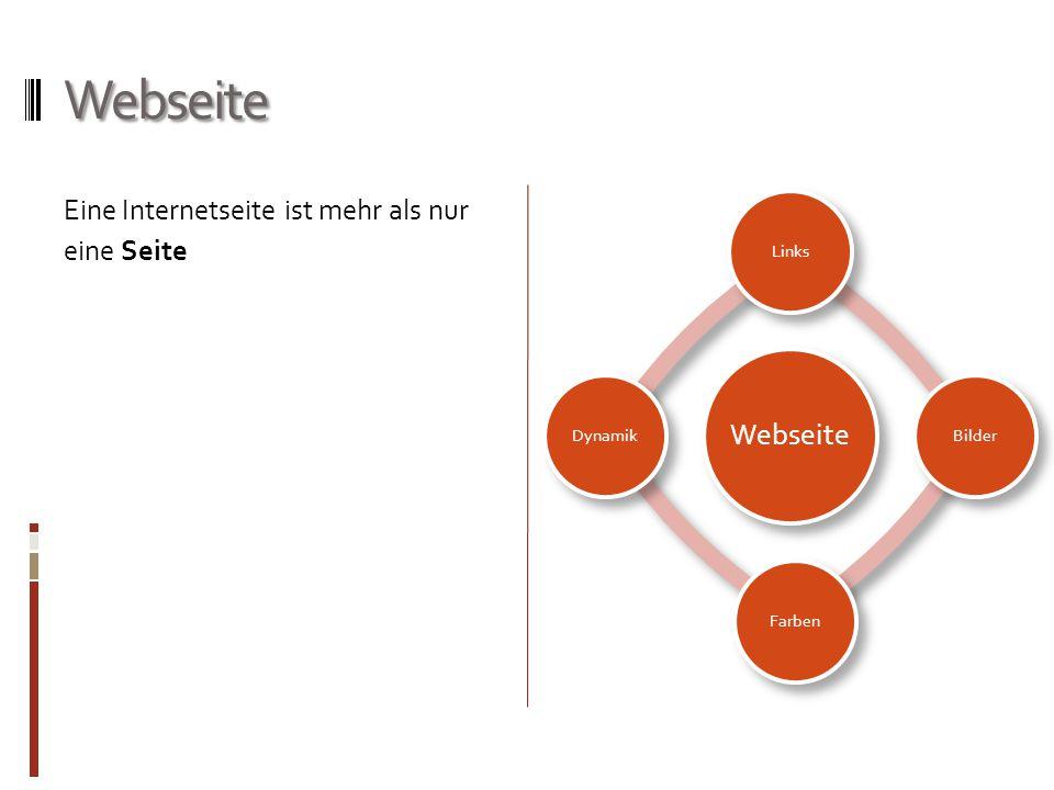 Webseite Eine Internetseite ist mehr als nur eine Seite Webseite Links