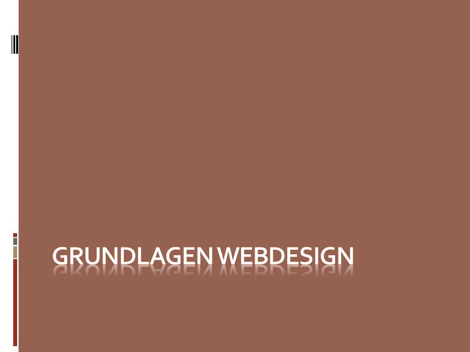 Grundlagen Webdesign