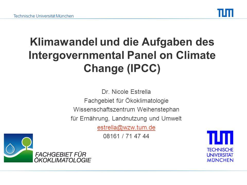 Klimawandel und die Aufgaben des Intergovernmental Panel on Climate Change (IPCC)