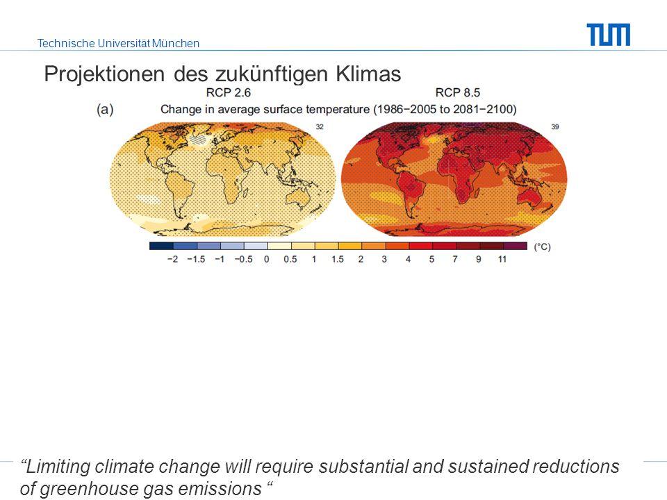 Projektionen des zukünftigen Klimas