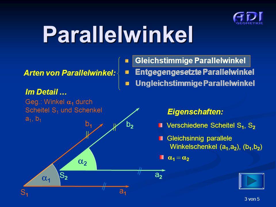 Parallelwinkel 2 1 Arten von Parallelwinkel: Im Detail …