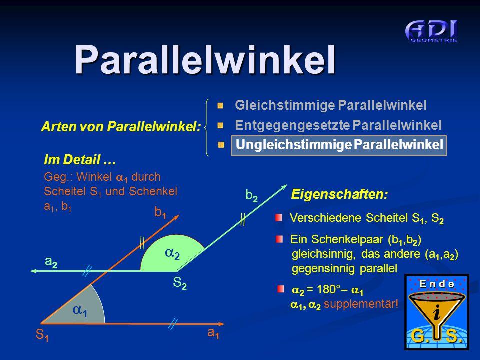 Parallelwinkel G. S. 2 1 Arten von Parallelwinkel: Im Detail … b2