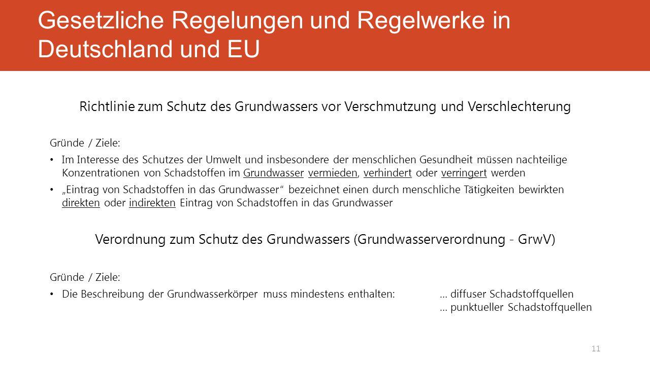 Gesetzliche Regelungen und Regelwerke in Deutschland und EU