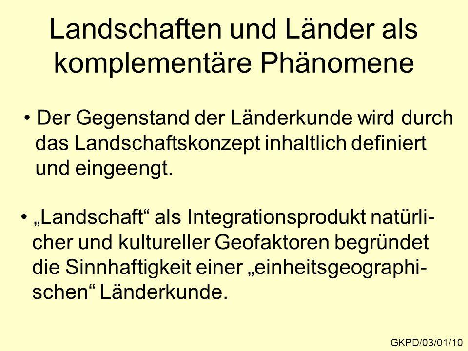 Landschaften und Länder als komplementäre Phänomene
