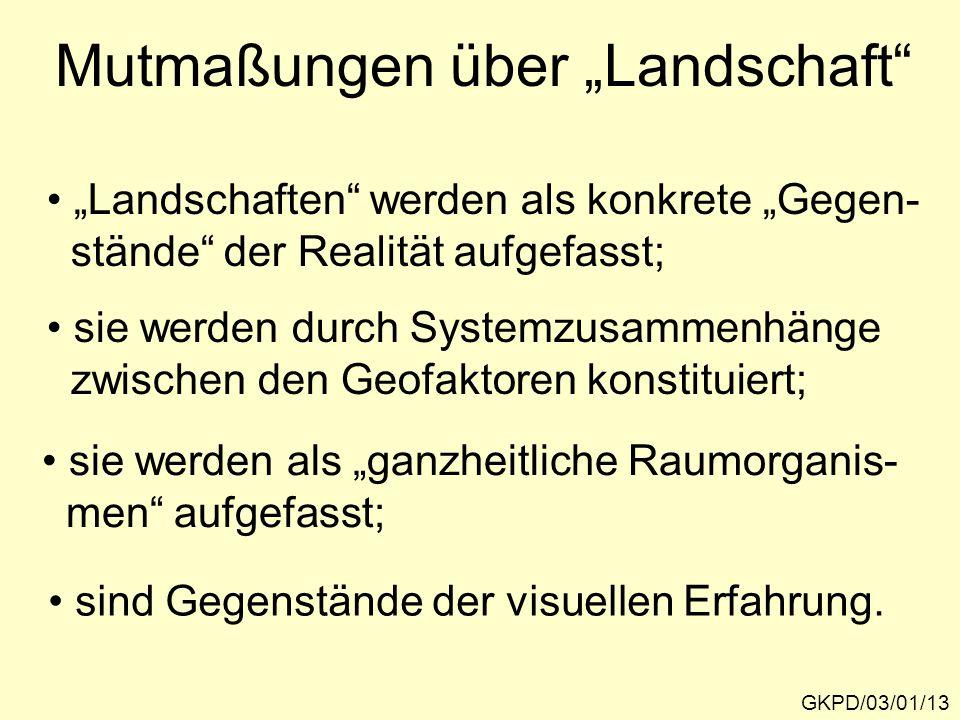 """Mutmaßungen über """"Landschaft"""