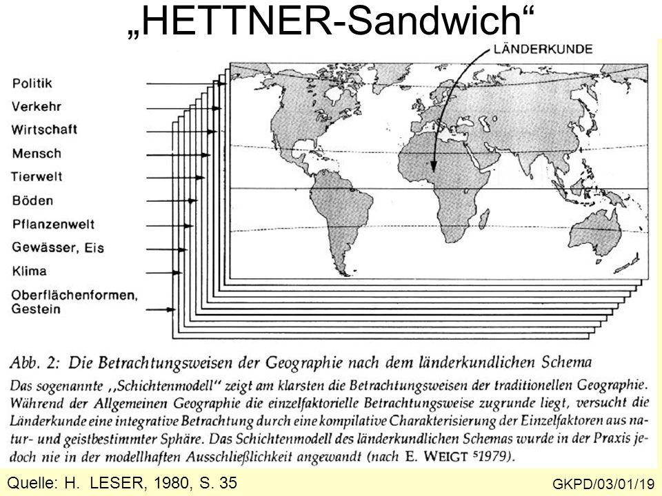 """""""HETTNER-Sandwich Quelle: H. LESER, 1980, S. 35 GKPD/03/01/19"""