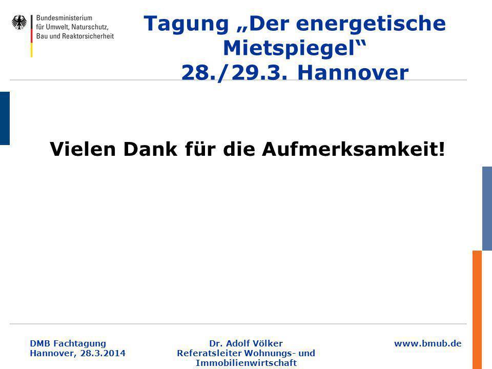 """Tagung """"Der energetische Mietspiegel 28./29.3. Hannover"""